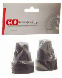 Ossenberg Krückenkapsel 19mm schwarz - 1 Paar