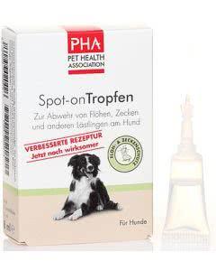 PHA Hunde - Spot-on Tropfen gegen Zecken und Flöhe - 4 x 2ml
