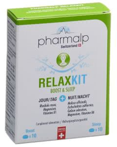 Pharmalp Relax-Kit Boost und Sleep  - 2x10 Tabletten