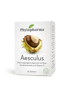 Phytopharma Aesculus Rosskastanie & Vitamin C - 80 Tab