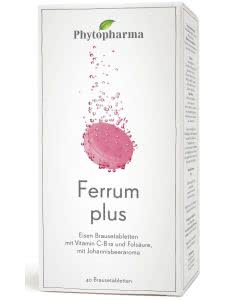 Phytopharma Ferrum plus Brausetabletten - 2x20 Stk.
