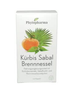 Phytopharma Kürbis - Sabal - Brennessel - 100 Kaps.