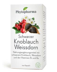 Phytopharma Schwarzer Knoblauch Weissdorn Kapseln - 100 Stk.