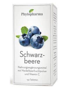 Phytopharma Schwarzbeere Tabletten - Dose mit 150 Stk.