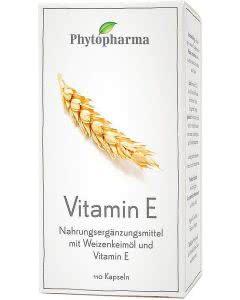 Phytopharma Vitamin E - Weizenkeimoel - 110 Kaps.