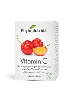 Phytopharma Vitamin C - Acerola & Zink - 60 Lutschtabl.
