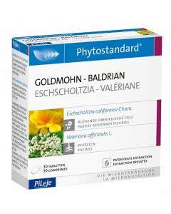 Phytostandards Pileje - Goldmohn und Baldrian - 30 Stk.