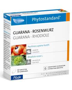 Phytostandards Pileje - Guarana und Rosenwurz - 30 Stk.