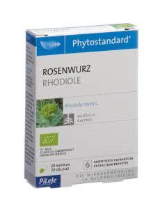 PiLeJe Phytostandard Rosenwurz Kapseln Bio - 20 Stk.
