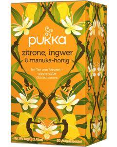 PUKKA Zitrone, Ingwer & Manukahonig Tee - 20 Btl.