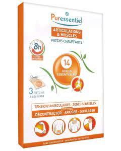 Puressentiel Gelenk & Muskel Wärmepflaster mit 14 ätherischen Ölen - 3 Stk.