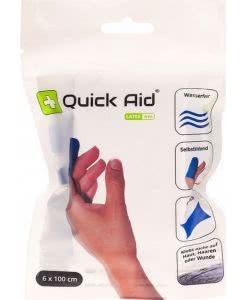 QuickAid Wundverband Pflaster - BLAU - 6cm x 100cm