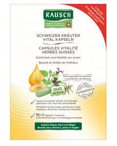 Rausch - Schweizer Kräuter Vital Kapseln - 2 x 30 Stk.