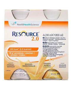Nestle Resource 2.0 Ananas Mango - 4 x 200ml