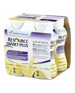 Nestle Resource Diabet plus Vanille - 4 x 200ml