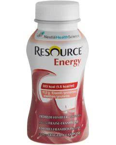 Nestle Resource Energy Drink Erdbeer Himbeer  - 4 x 200ml