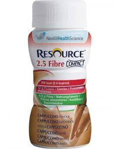 Nestle Resource 2.5 Fibre Compact Drink Cappuccino - 4 x 125ml