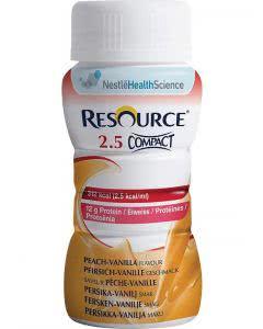 Nestle Resource 2.5 Compact Drink Pfirsich Vanille - 4 x 125ml
