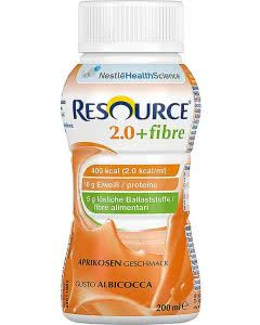 Nestle Resource 2.0 Fibre Drink Aprikose - 4 x 200ml