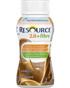 Nestle Resource 2.0 Fibre Drink Café - 4 x 200ml
