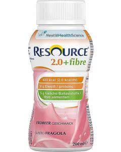 Nestle Resource 2.0 Fibre Drink Erdbeer  - 4 x 200ml