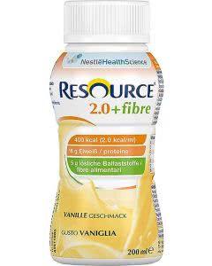 Nestle Resource 2.0 Fibre Drink Vanille - 4 x 200ml