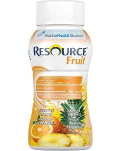 Nestle Resource Fruit Drink Ananas-Orange - 4 x 200ml