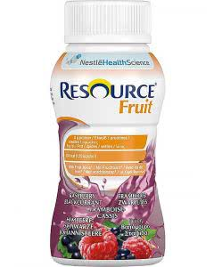 Nestle Resource Fruit Drink Himbeere Schwarze Johannisbeere - 4 x 200ml