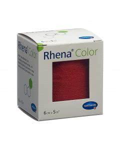 Rhena Color Elastische Binde rot 5m x 6cm