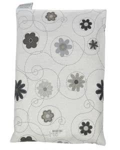 Chriesisteinkissen (Kirschkernkissen) Säckli - Blumen grau