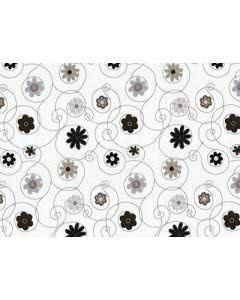 Ricfit Fit-Bag-Stützkissen Nacken/Lende mit Hirsespreu - Blumen grau - 13x30cm