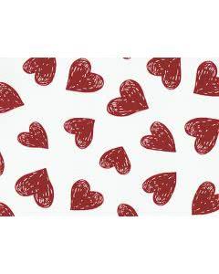 Chriesisteinkissen (Kirschkernkissen) Säckli - weiss mit Herz rot