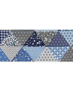 Traubenkern-Kissen Säckli - Patchwork blau