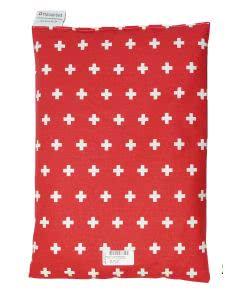 Chriesisteinkissen (Kirschkernkissen) Säckli - rot mit CH-Kreuz