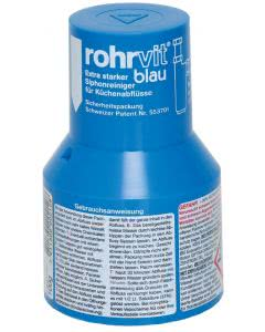 Rohrvit blau Abflussreiniger extra stark - 100g = 1 Portion