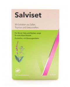 Salviset Mund- und Halspastillen - 24 Stk.