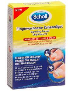 Scholl Clip & Spray - eingewachsene Zehennägel Komplett-Set