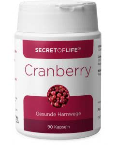 Secret of Life - Cranberry Vaccinium macrocarpon - Dose mit 90 Stk.