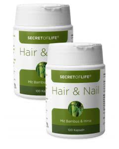 Sparpack - Secret of Life Hair und Nail Bambus mit Hirse - 2 x 100 Kaps.