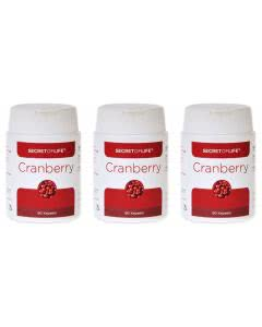 20% Rabatt-Set: Secret of Life - Cranberry Vaccinium macrocarpon - 3 x 90 Stk.