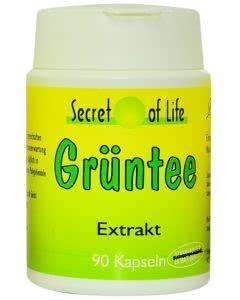 Secret of Life - Grüntee-Kapseln - Dose mit 90 Stk.