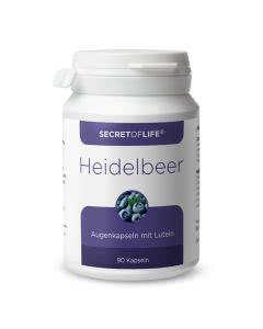 Secret of Life - Heidelbeer Augenkapseln mit Lutein - 90 Kaps.