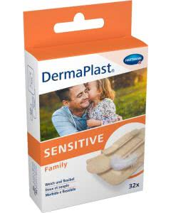DermaPlast Sensitive Family assoriert - 32 Strips in 3 Grössen