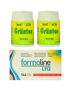 Set: Formoline L112 - 144 Tabl. mit Grüntee-Kapseln 2 x 90 Stk. - portofrei