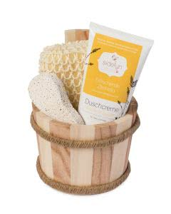 Sidefyn Cosmetics - Geschenkset Holzkübel Duschcreme Zitronella - 200ml