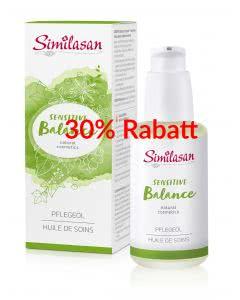 30% Rabatt - Similasan Naturkosmetik - Sensitive Balance - pflegendes Körperoel - 100ml