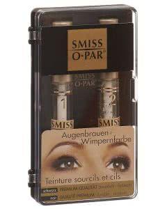 Smiss-O-Par Premium Augenbrauen- und Wimpernfarbe - dauerhaft und farbecht - SCHWARZ - 1 Set