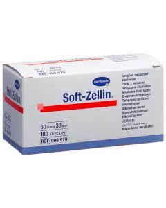 Soft Zellin Alkoholtupfer - 100 Stk. à 60 x 30mm