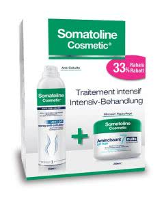 50% Rabatt: Somatoline SET: Use & Go Anticellulite Spray mit 7 Nächte Frische-Gel - 150ml/250ml