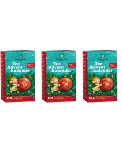 Sonnentor Adventskalender Tee - mit 24 Teesorten TRIO-Pack - 3 x 24 Tee